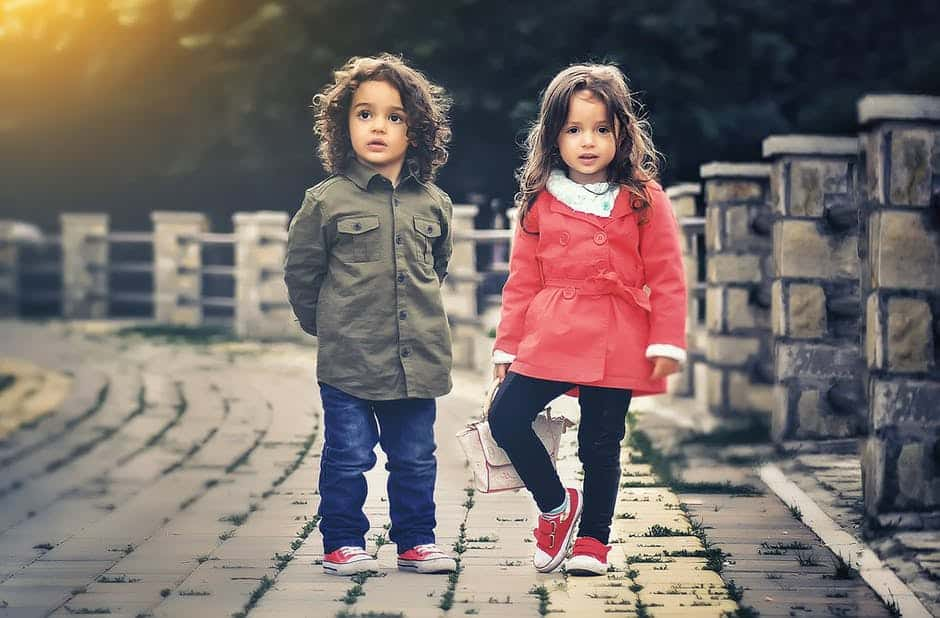 Kids wearing organic baby clothes